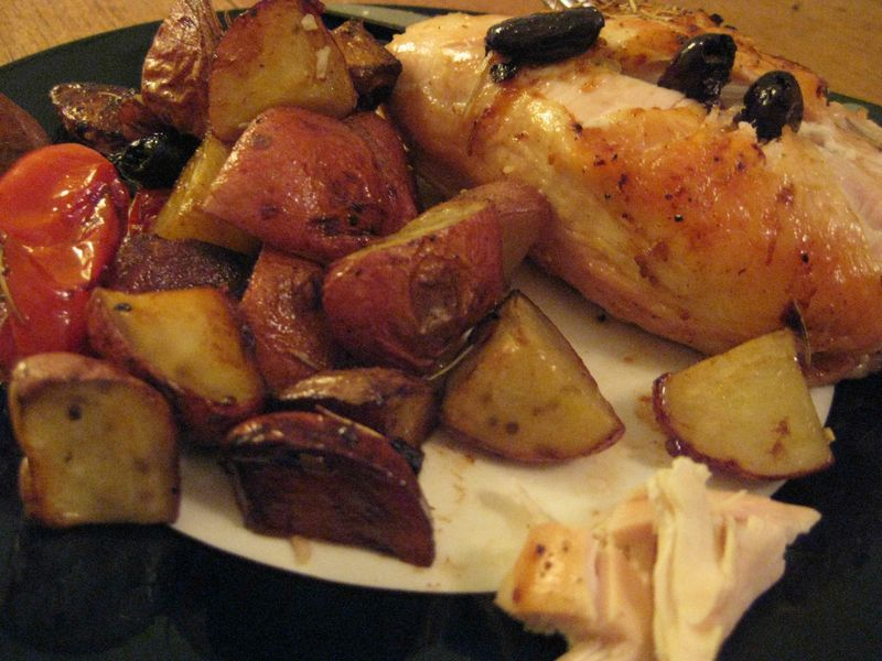 Chicken-potato-olive