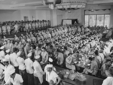 A-full-army-mess-hall-formerly-a-civilian-restaurant-during-meal-time